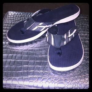 Navy & White Stripe Sperry Surf Woman's Sandals